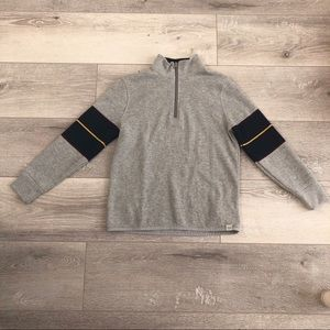 Ribbed sweater with zipper boys